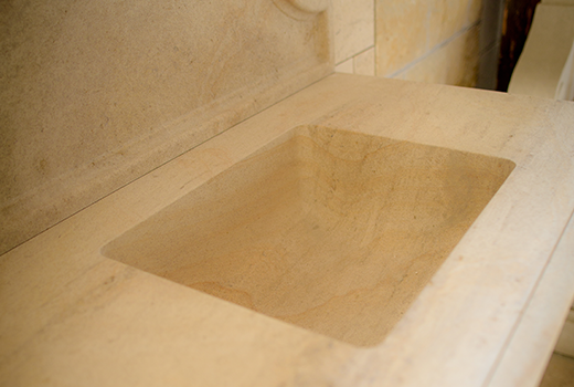 Indoor Limestone Sink