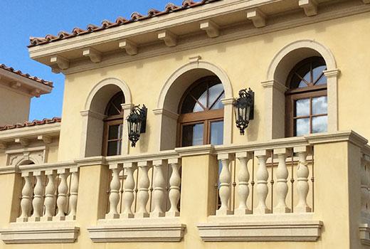 exterior columns