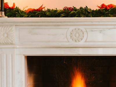Limestone Company Fireplace Frame and Decor