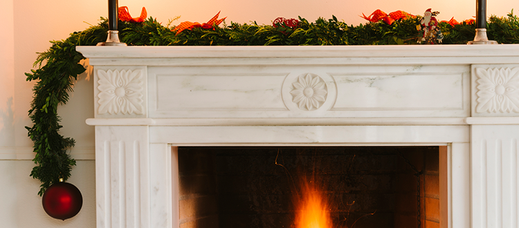 Limestone Company Fireplace Frame and Decor