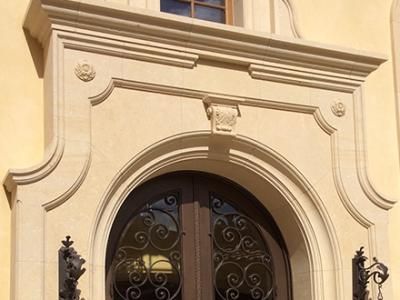 Limestone Company Front Door Archway