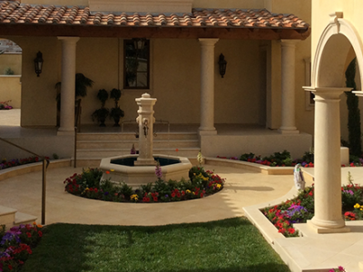 Limestone Company Courtyard and Pillars
