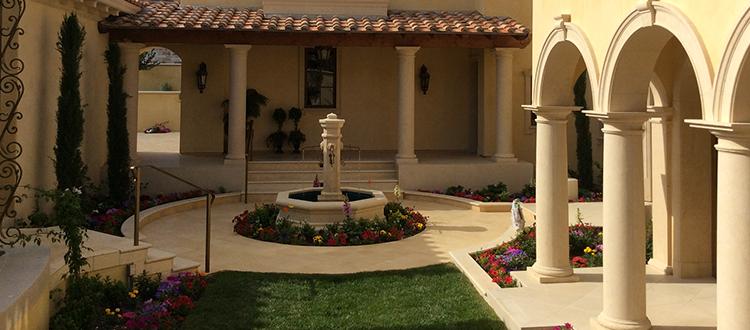 Limestone Company Courtyard and Pillars