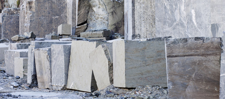 Large Rocks Cut By Limestone Company