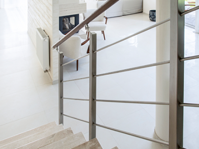 Limestone Staircase and Limestone Flooring