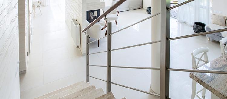 Limestone Staircase and Limestone Flooring