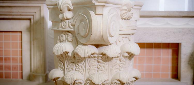 Decorative Limestone Column