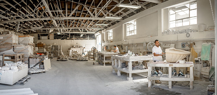 Factory for a Limestone Comapny In Los Angeles