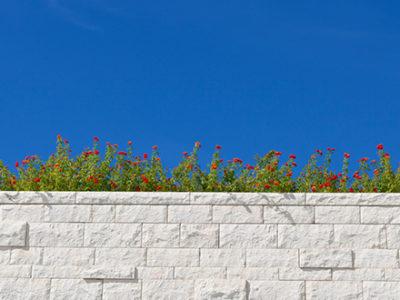 Custom Built Limestone Wall