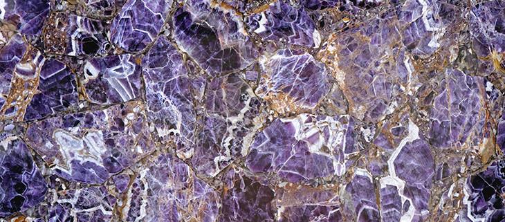 Intricate purple marble slab