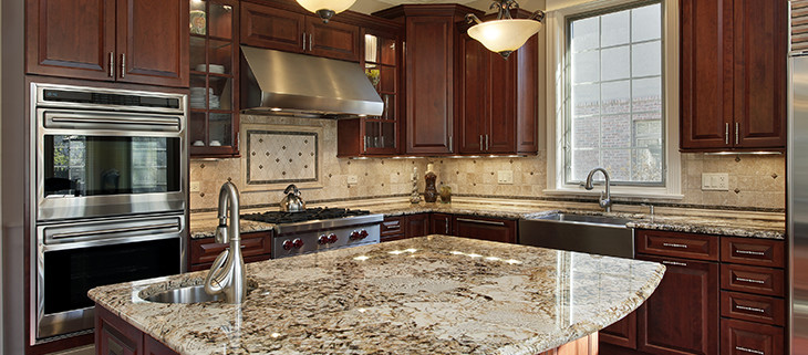 Kitchen transformed with limestone countertops