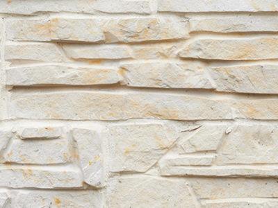 Wall of limestone bricks
