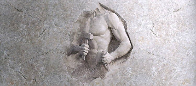 Marble-athletic-man-cut-into-stone
