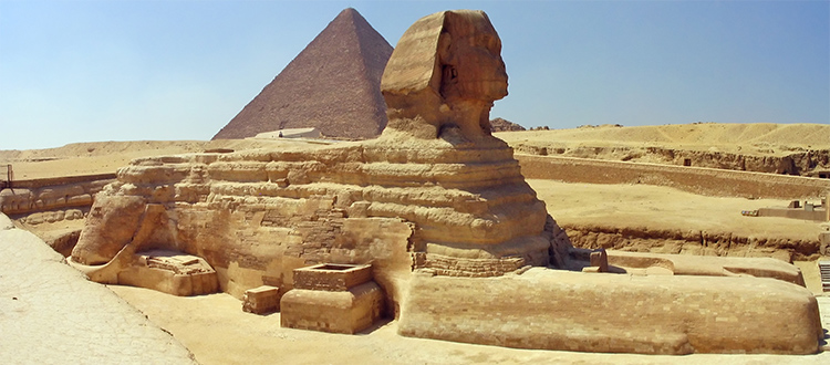 Great-pyramid-and-sphinx-in-Giza