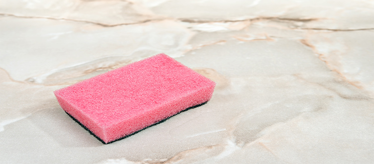 sponge-used-for-cleaning-marble-table
