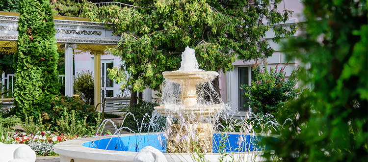 beautiful-fountain-constructed-in-backyard